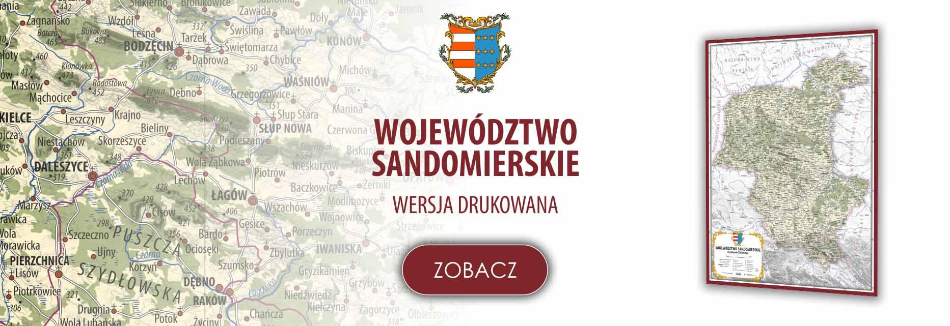 Województwo sandomierskie w poł. XVI w.